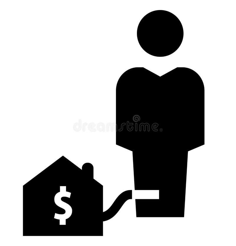 Ícone da escravidão da hipoteca ilustração stock