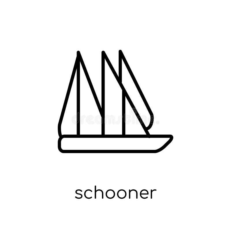 ícone da escuna da coleção do transporte ilustração stock