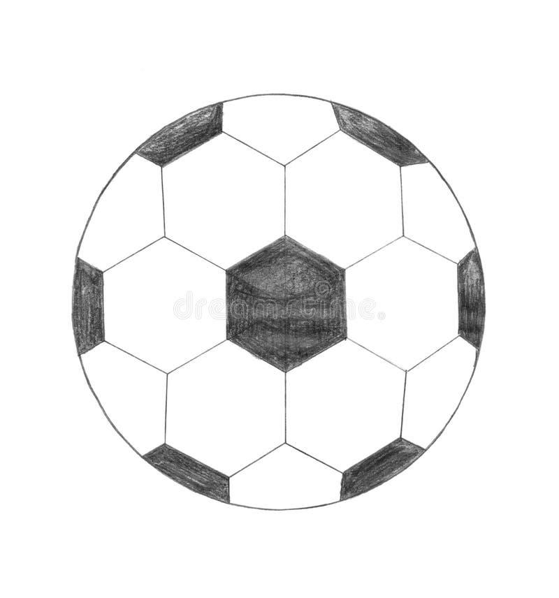 Ícone da esfera de futebol ilustração stock