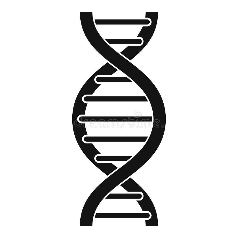 Ícone da espiral do ADN, estilo simples ilustração stock