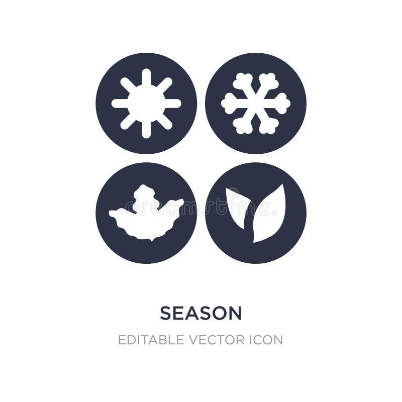 ícone da estação no fundo branco Ilustração simples do elemento do conceito da natureza ilustração stock