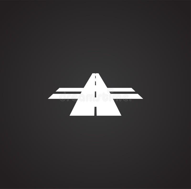 Ícone da estrada no fundo para o gráfico e o design web Ilustra??o simples S?mbolo do conceito do Internet para o bot?o do Web si ilustração stock