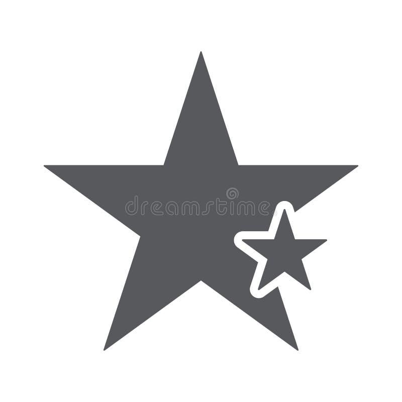 Ícone da estrela com sinal da estrela Star o ícone e o melhor, favorito, avaliando o símbolo ilustração do vetor