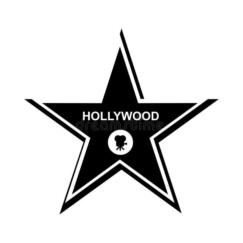 Ícone da estrela de Hollywood, estilo simples ilustração stock