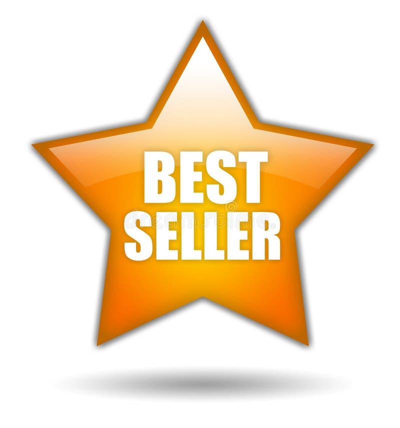 Ícone da estrela do bestseller ilustração stock