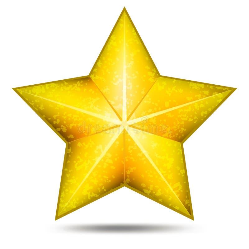 Ícone da estrela do Grunge ilustração stock