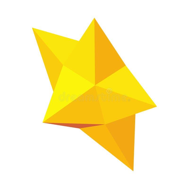 Ícone da estrela do Natal, estilo 3d isométrico ilustração royalty free
