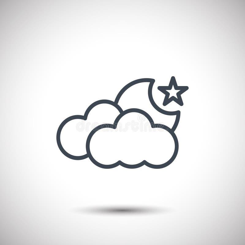 Ícone da estrela do tempo da lua da nuvem imagens de stock