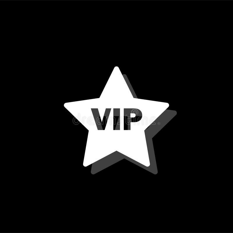 Ícone da estrela do Vip horizontalmente ilustração do vetor