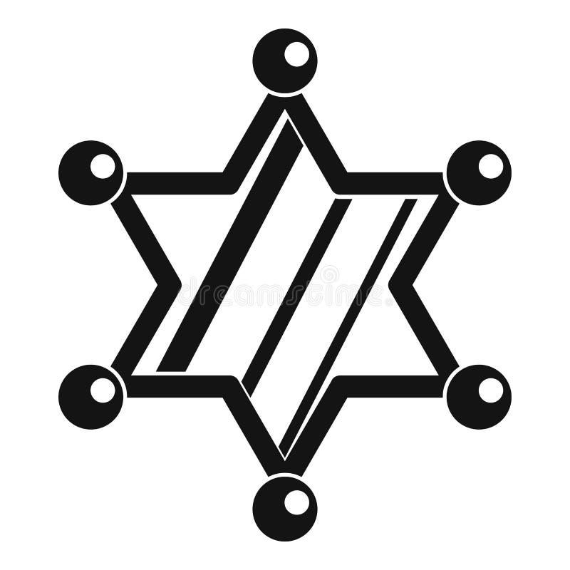 Ícone da estrela do xerife, estilo simples ilustração do vetor
