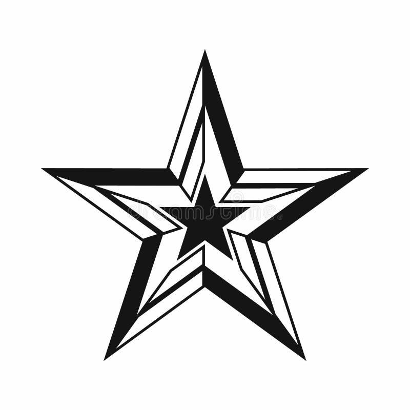Ícone da estrela, estilo simples ilustração do vetor