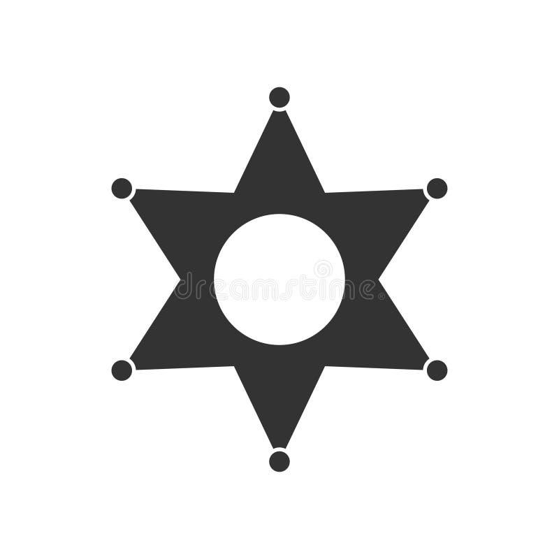 Ícone da estrela liso ilustração royalty free