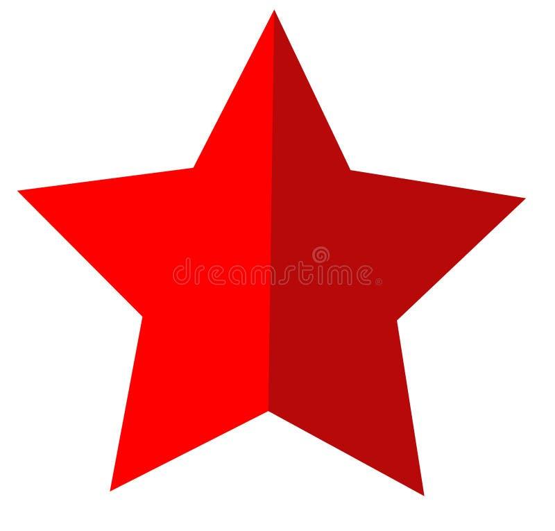 Ícone da estrela no fundo branco Estilo liso ícone para seu projeto do site, logotipo da estrela, app, UI Símbolo vermelho da est ilustração do vetor
