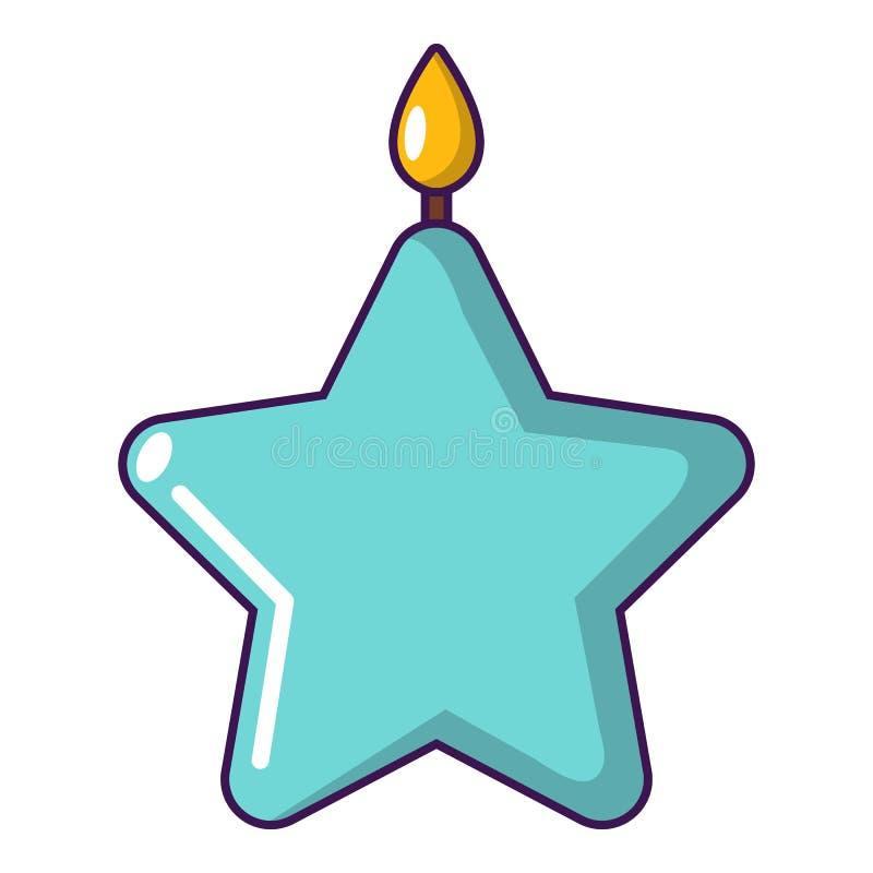 Ícone da estrela da vela, estilo dos desenhos animados ilustração do vetor