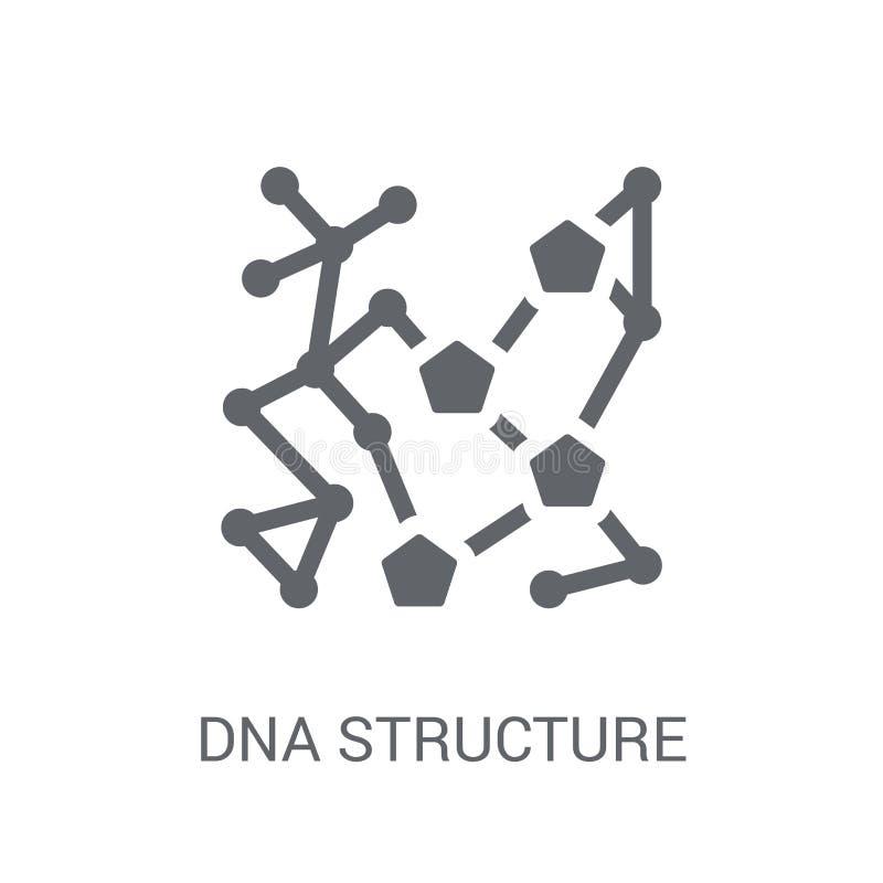 Ícone da estrutura do ADN  ilustração do vetor