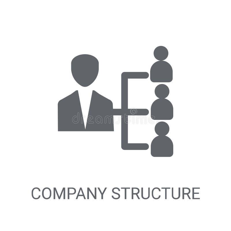 Ícone da estrutura da empresa Conceito na moda do logotipo da estrutura da empresa sobre ilustração royalty free