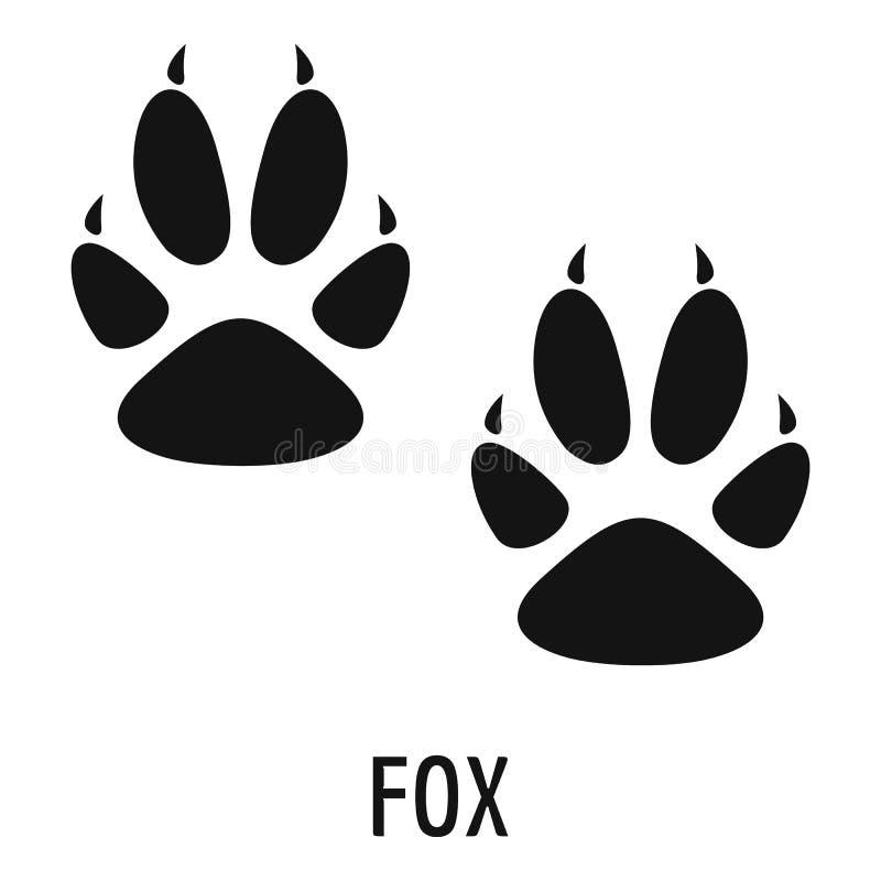 Ícone da etapa do Fox, estilo simples ilustração do vetor