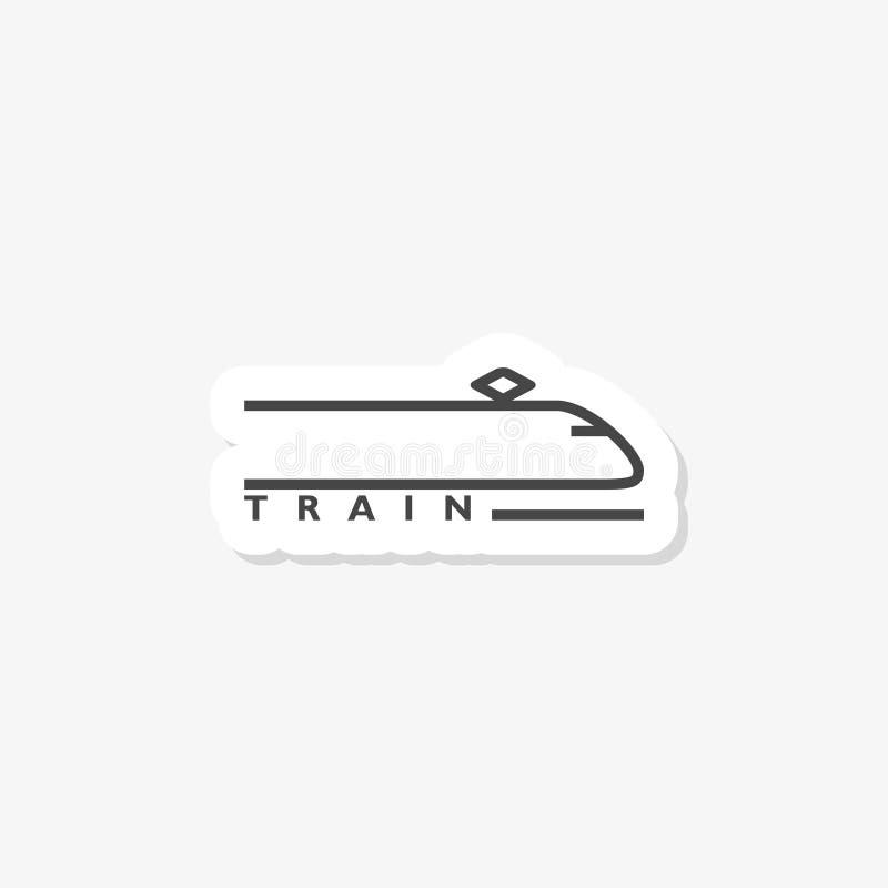 Ícone da etiqueta do trem isolado no fundo branco Sinal simples do ícone do trem ilustração do vetor