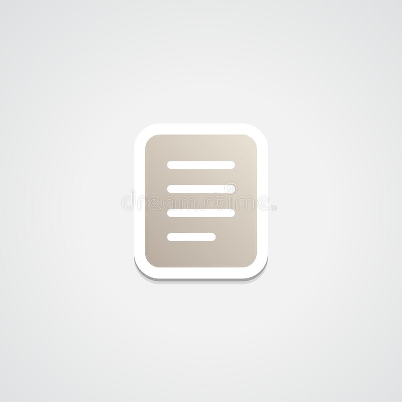 Ícone da etiqueta da lista de músicas fotografia de stock