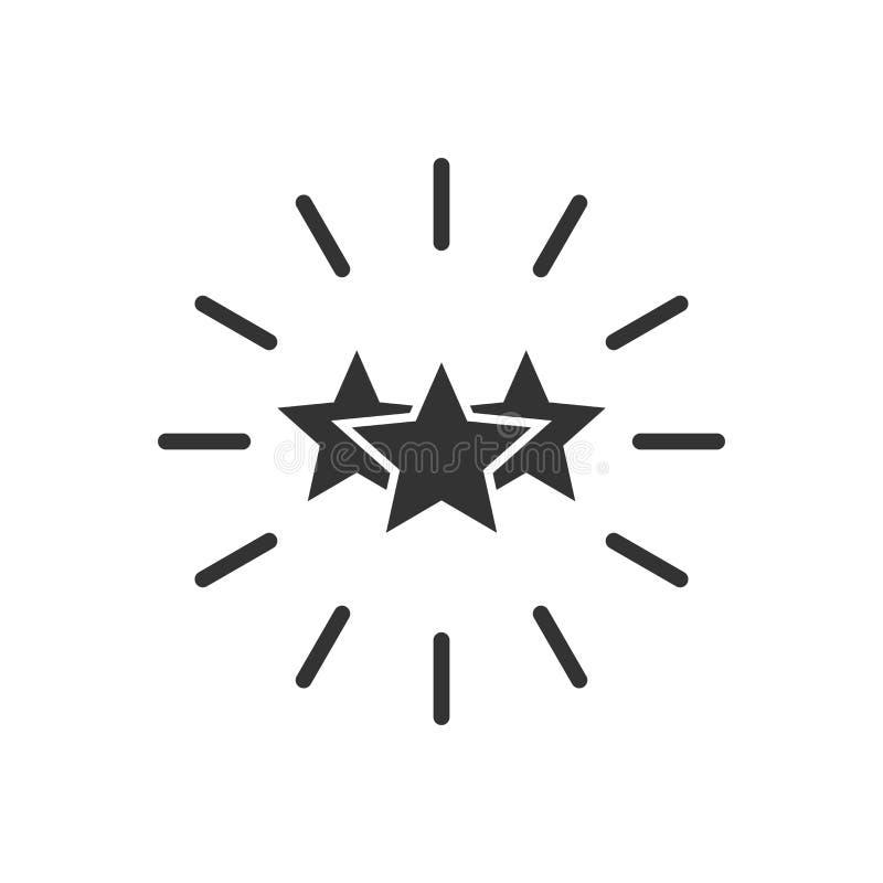 Ícone da excelência no estilo liso Ilustração do vetor da fita da estrela no fundo isolado branco Conceito do negócio da medalha  ilustração royalty free