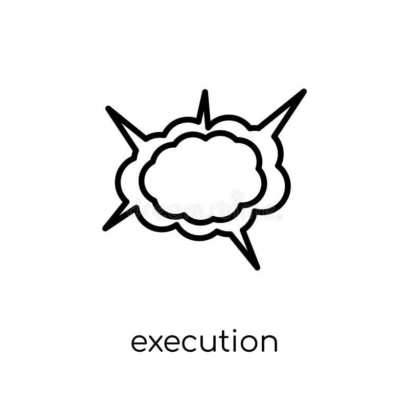 ícone da execução  ilustração stock