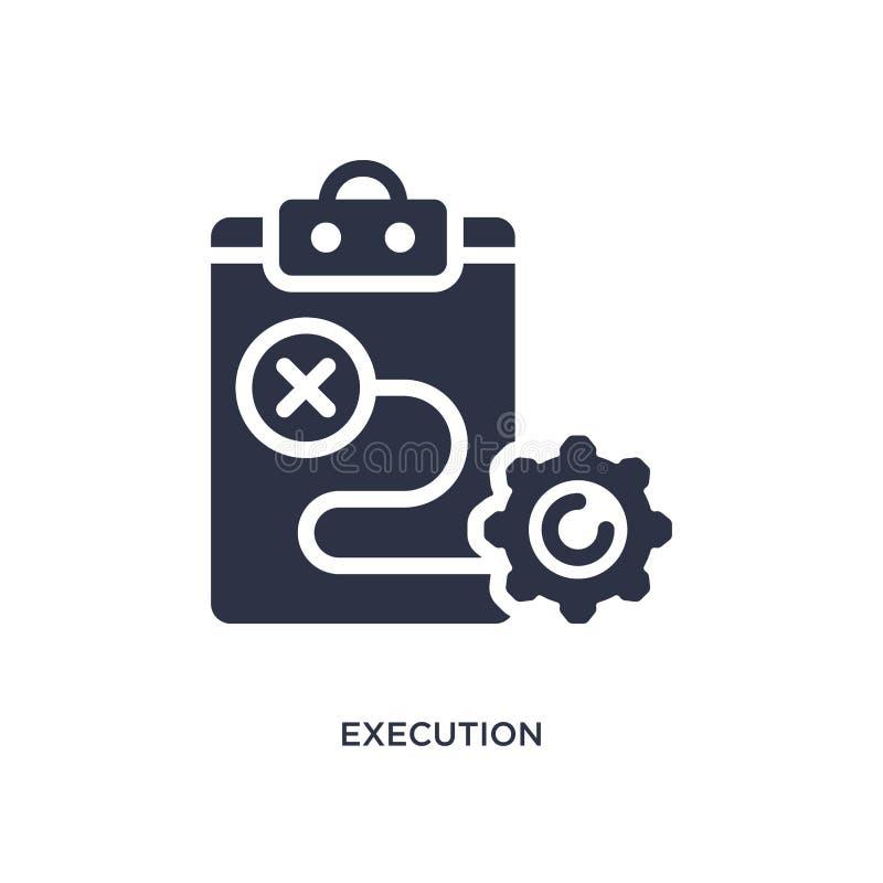 ícone da execução no fundo branco Ilustração simples do elemento do conceito de mercado ilustração stock