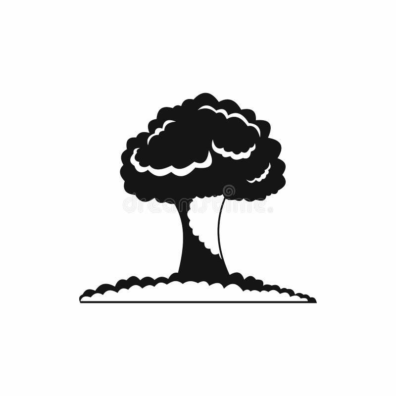 Ícone da explosão nuclear, estilo simples ilustração do vetor