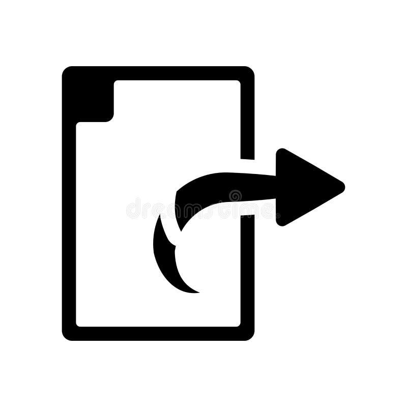 Ícone da exportação Conceito na moda do logotipo da exportação no fundo branco de ilustração do vetor