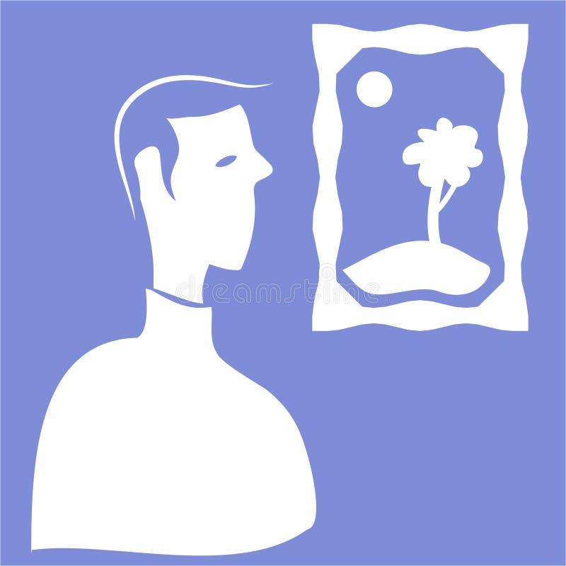 Ícone da exposição ilustração royalty free