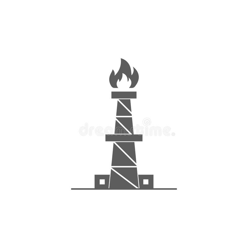ícone da fábrica de tratamento do gás natural Elemento do ícone do petróleo e gás Ícone superior do projeto gráfico da qualidade  ilustração do vetor