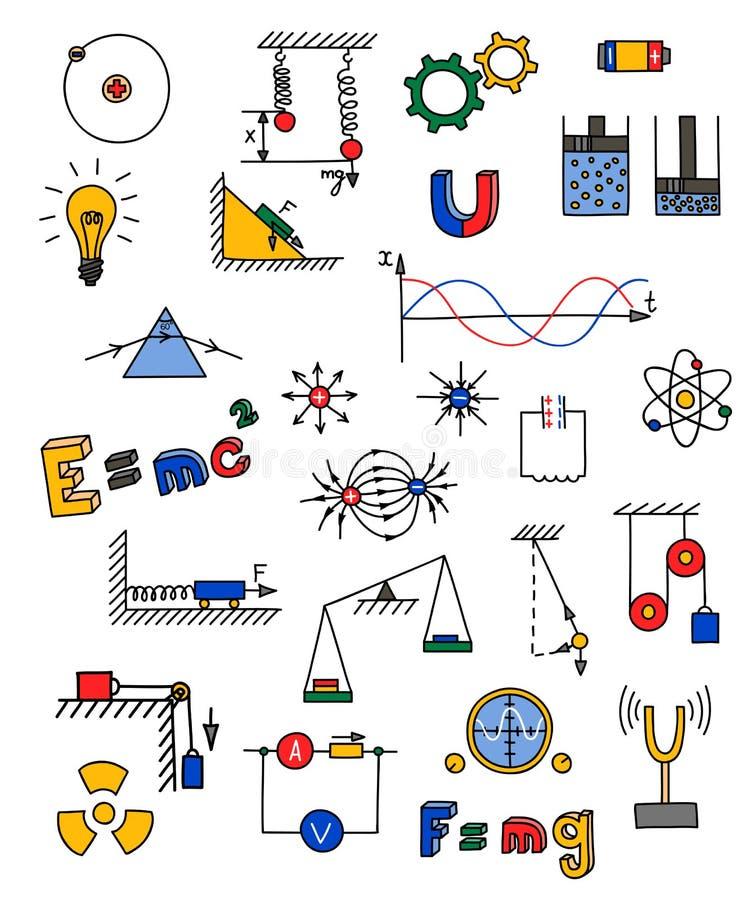 Ícone da física ilustração stock