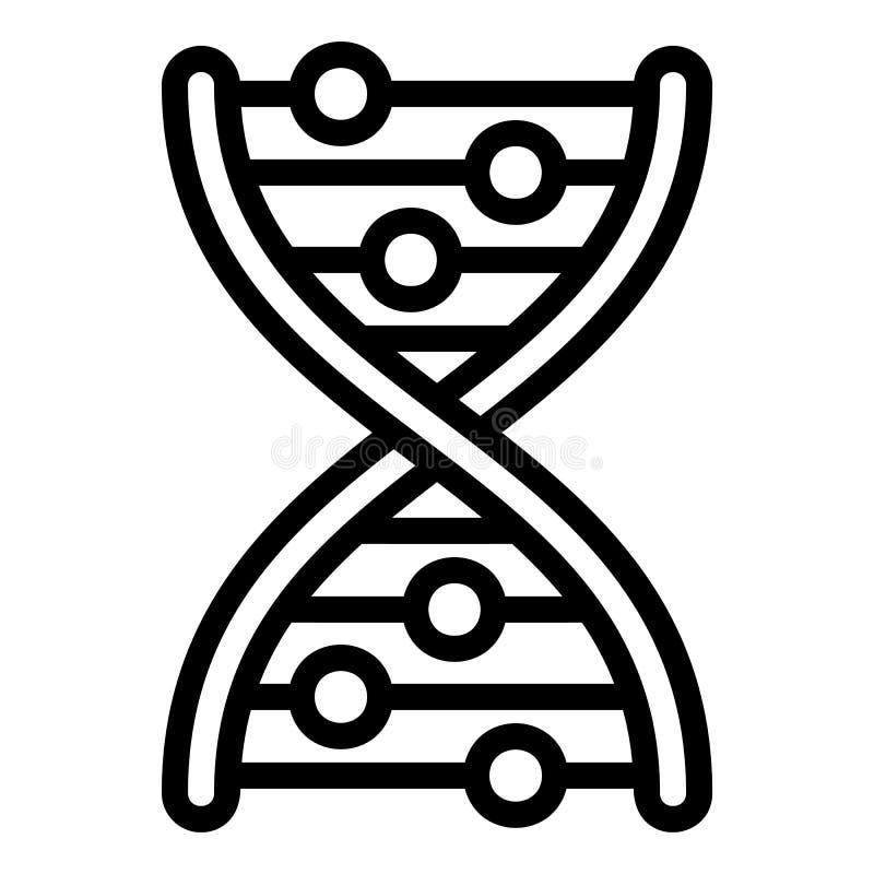 Ícone da fórmula do ADN, estilo do esboço ilustração stock