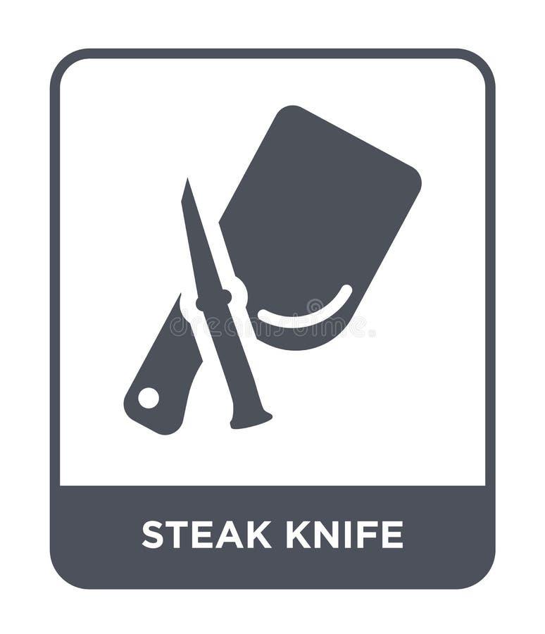 ícone da faca de bife no estilo na moda do projeto ícone da faca de bife isolado no fundo branco ícone do vetor da faca de bife s ilustração royalty free