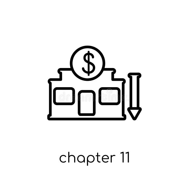 Ícone da falência do capítulo 11  ilustração do vetor