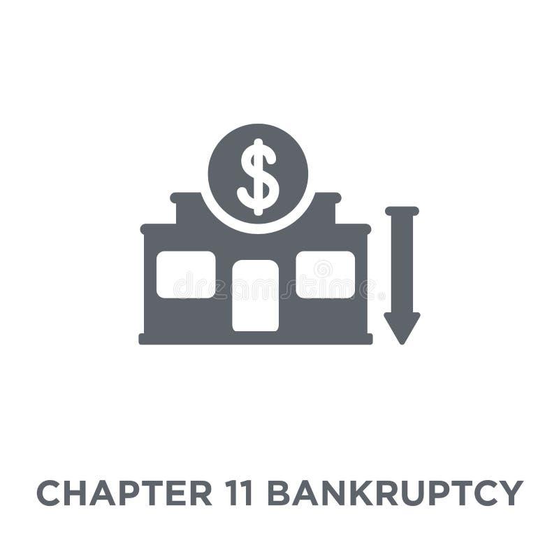 Ícone da falência do capítulo 11 da coleção da falência do capítulo 11 ilustração stock