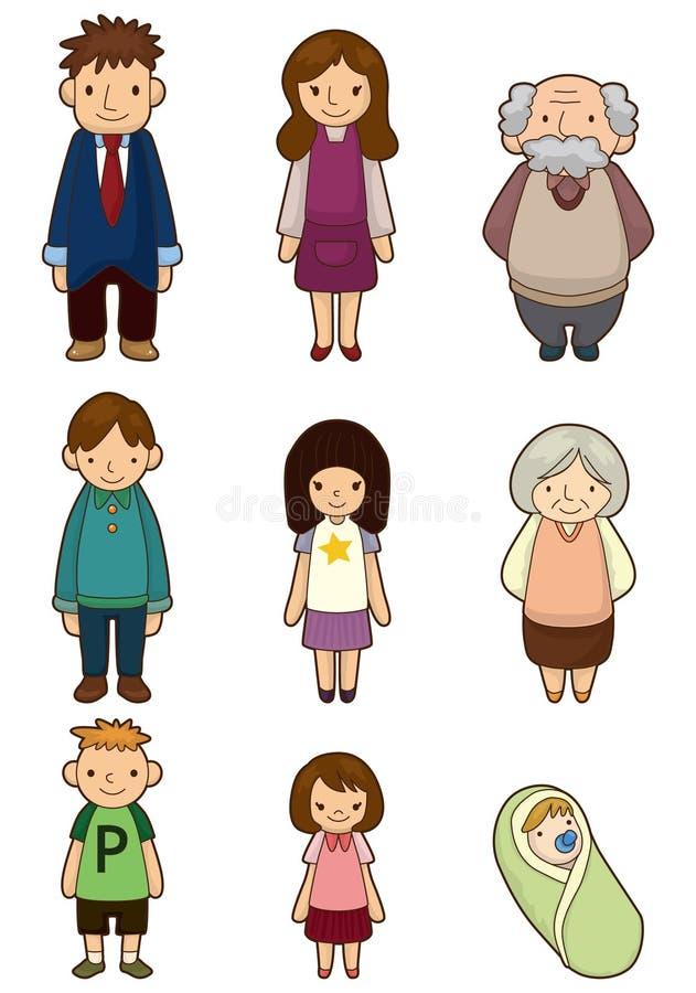 Ícone da família dos desenhos animados ilustração royalty free