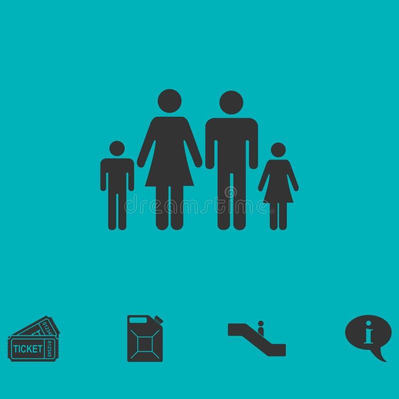 Ícone da família liso ilustração do vetor