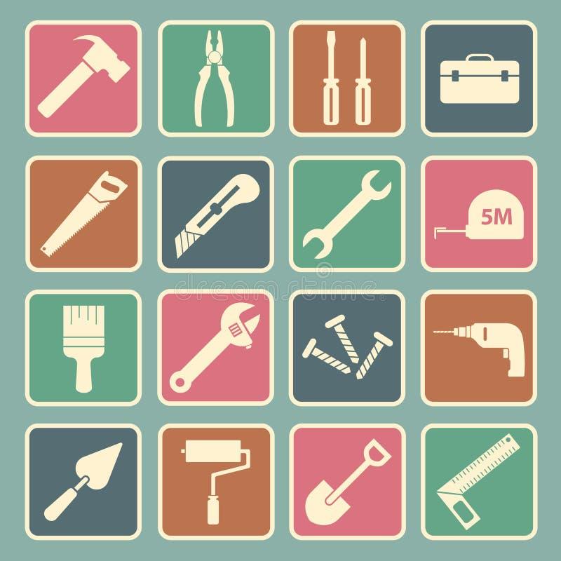 Ícone da ferramenta ilustração stock