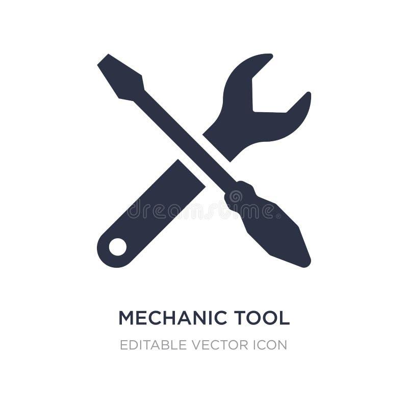 ícone da ferramenta do mecânico no fundo branco Ilustração simples do elemento do conceito de UI ilustração do vetor