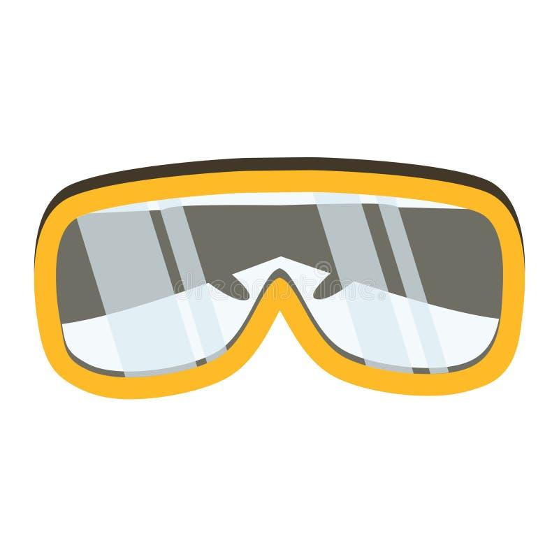 Ícone da ferramenta dos vidros de segurança Instrumento industrial ou do agregado familiar ilustração stock