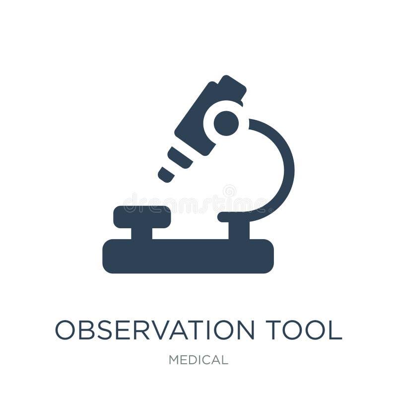 ícone da ferramenta da observação no estilo na moda do projeto ícone da ferramenta da observação isolado no fundo branco ícone do ilustração stock