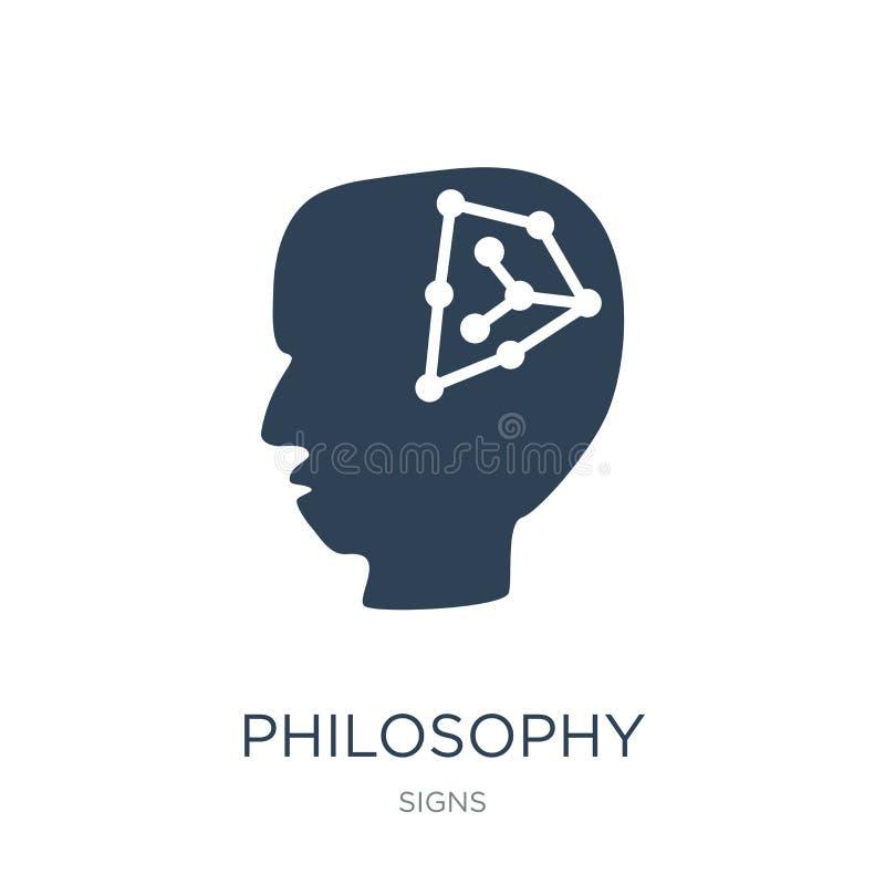 ícone da filosofia no estilo na moda do projeto ícone da filosofia isolado no fundo branco ícone do vetor da filosofia simples e  ilustração stock