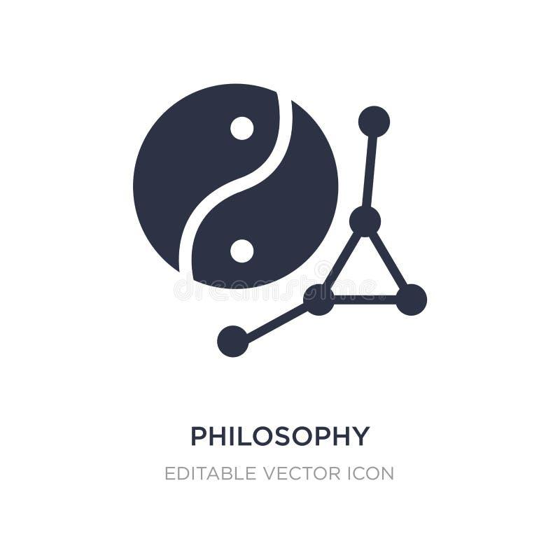 ícone da filosofia no fundo branco Ilustração simples do elemento do conceito dos sinais ilustração do vetor
