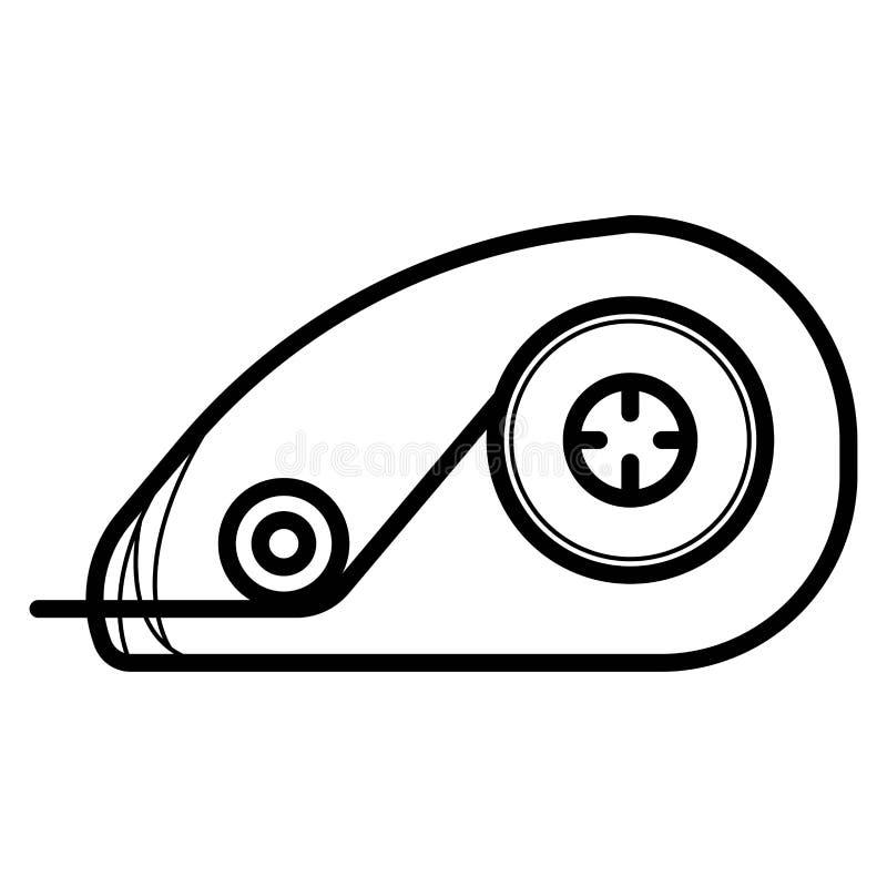 Ícone da fita de correção ilustração stock