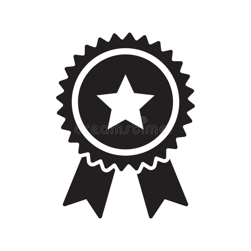 Ícone da fita da verificação da qualidade A escolha certificada ou melhor do produto de vetor recomendou certificado aprovado da  ilustração stock
