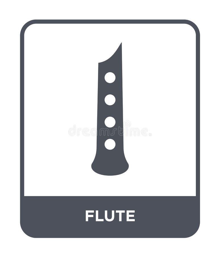ícone da flauta no estilo na moda do projeto Ícone da flauta isolado no fundo branco símbolo liso simples e moderno do ícone do v ilustração royalty free