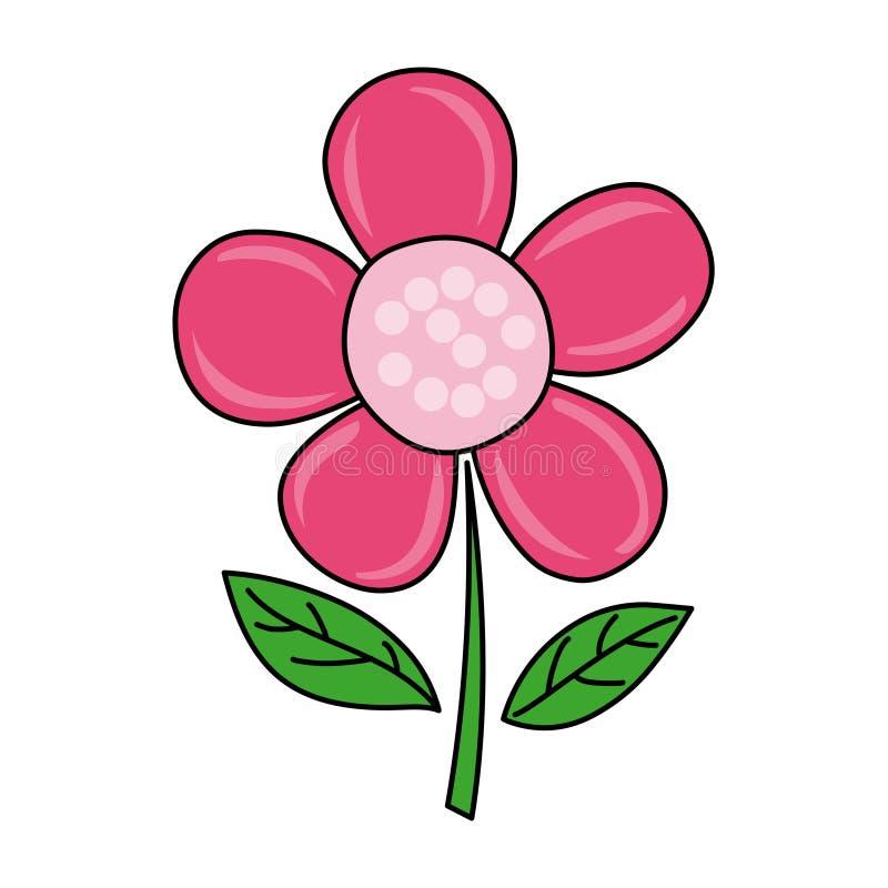 Ícone da flor do rosa da flor Ícone da flor ilustração do vetor