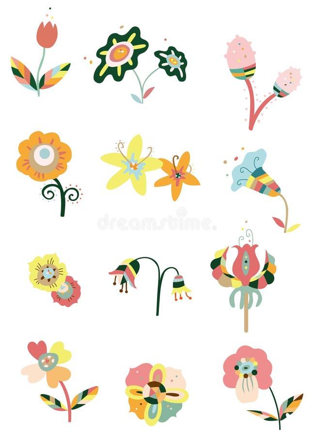 Ícone da flor dos desenhos animados ilustração royalty free
