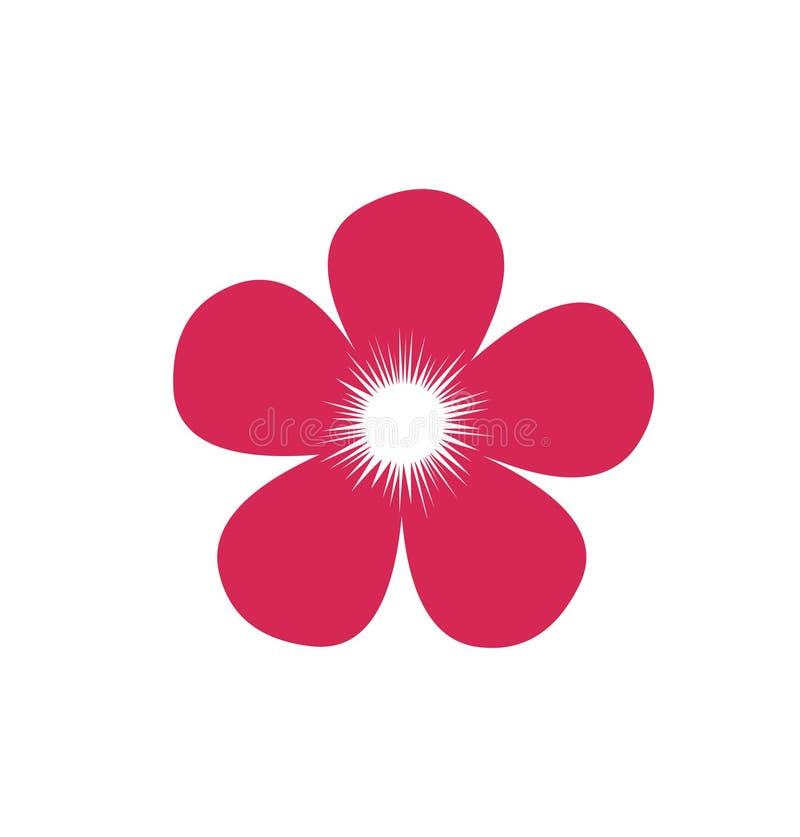 Ícone da flor Vetor de florescência da flor ilustração royalty free