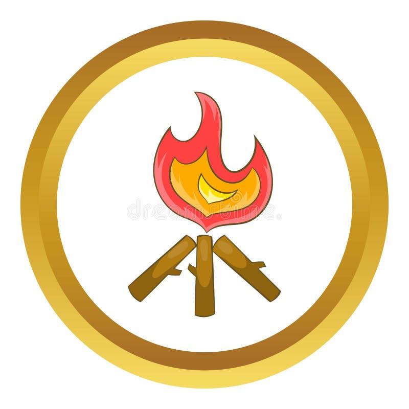 Ícone da fogueira ilustração do vetor